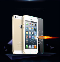 10000pcs/lot 5S glass 0.3mm 9H Anti-shatter Premium tempered glass screen protector for iphone 5 5G 5S 5C protective guard film