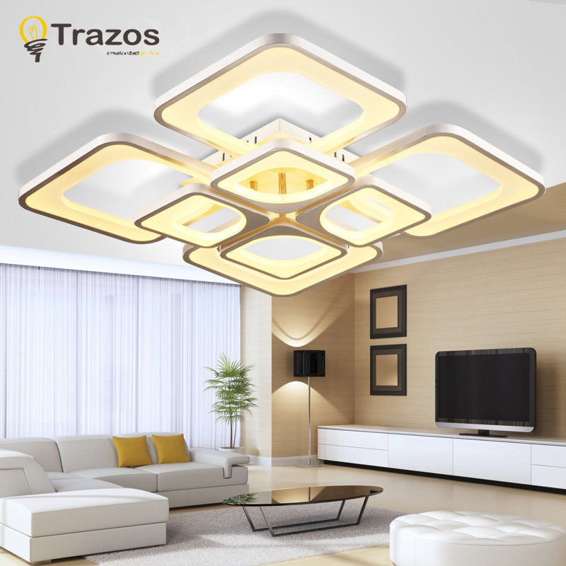 2016 surface mounted modern led ceiling lights for living for Living room light fixtures