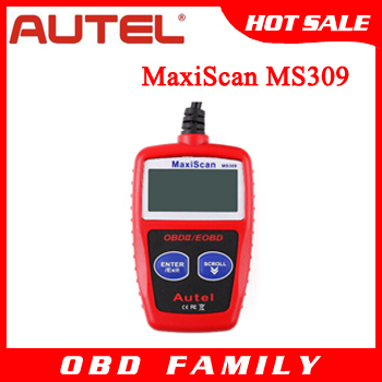 Free shipping Autel MaxiScan MS309 CAN BUS OBD2 Code Reader autel ms309 OBDII Code Reader Scanner obd2 obdii Car Diagnostic Tool(China (Mainland))