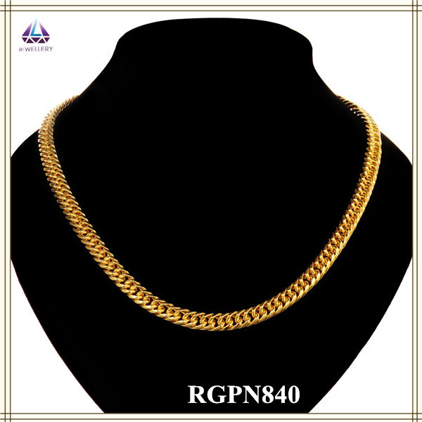 China Popular Noble New Model Magnetic 18k Gold Rope Clasp Chain Necklace(China (Mainland))
