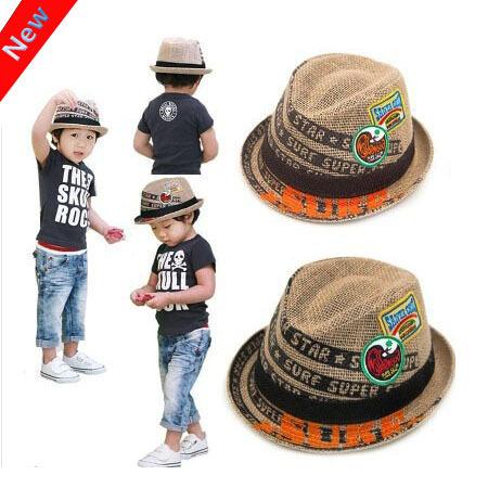 Тенденция дети лён солнца шляпа лето шляпы лён для мальчики малыш свободного покроя ...