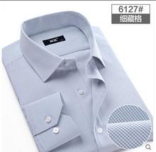 Brand Shirts Mens Casual Dress Shirts Plaid Shirt Long-sleeve Men's Clothing Work Wear Camisa Masculina Plus Size New 2015(China (Mainland))