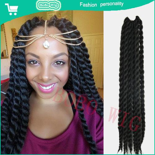 mambo twist braiding hair crochet box braid hair african jumbo braid ...