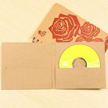 13.5*14.5cm Kraft Paper CD Sleeve Discs DVD Packaging Packing Bag Box Party Case Cover Holder Envelope Wedding Birthday - COM Package store