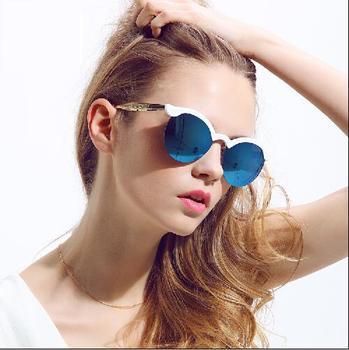2015 новый летний syle женская солнцезащитные очки для женщин солнцезащитные очки литые наполовину кадр mirro марка дизайнер ретро старинные