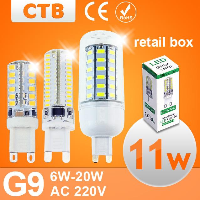 4pcs G9 LED Lamp Corn Bulb SMD 2835 Bombillas Led Lampada Led 220v 6W Lamparas 7W 220V 110V 9W 10W 12W 15W 18W 20W G9 LED Lamp(China (Mainland))