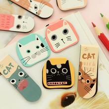 2 pcs/pack Various Lovely Cat Magnet Bookmark Paper Clip School Office Supply Escolar Papelaria Gift Stationery(China (Mainland))