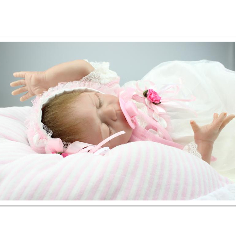 2016 Hot Silicone Reborn Baby Doll with Clothes 18 Inch