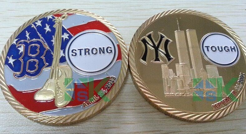 New Design The 14th Anniversary of 911 Memorial world trade center challenge coin. metal craft(China (Mainland))