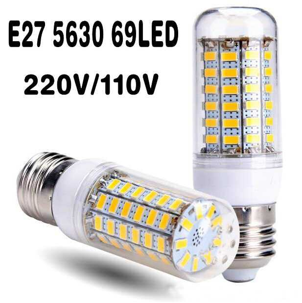 1Pcs 100% New 30W E27 B22 E14 LED Corn Bulb 69LEDs AC 110V/220V SMD 5730 LED lamp Chandelier light for new year Home lighting(China (Mainland))