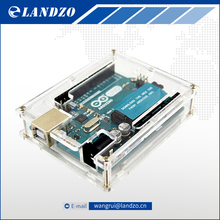 One set Transparent Box Case Shell for Arduino UNO R3 free shipping(China (Mainland))