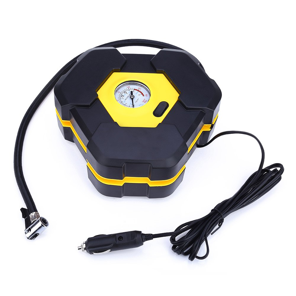 Portable 12V Car Auto Electric Air Compressor Tire Inflator Pump with 3m Long Extended Power Cord with Cigarette Lighter Plug