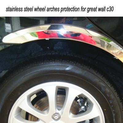 stainless steel wheel arches protection for great wall c30<br><br>Aliexpress