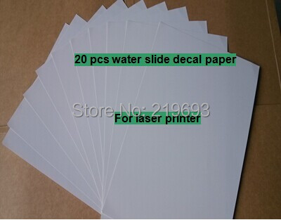 For mark cup (20 pieces/lot) A4 clear/transparent water transfer printing paper laser water slide decal transfer paper(China (Mainland))