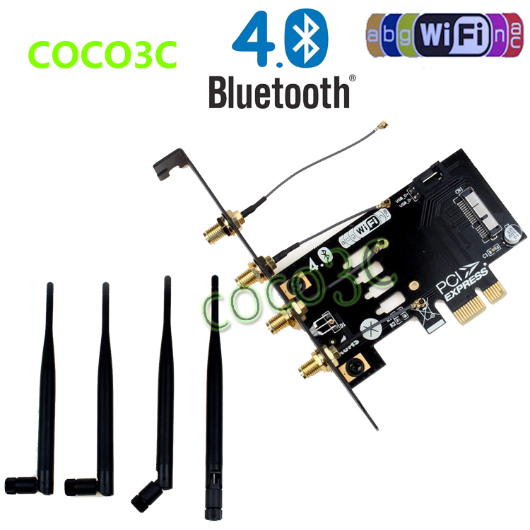 Laptop Wireless Network Card adapter PCI-e to 3G bluetooth 4.0 WIFI BCM94360CD / BCM94331CD module for macbook Pro/Air(China (Mainland))