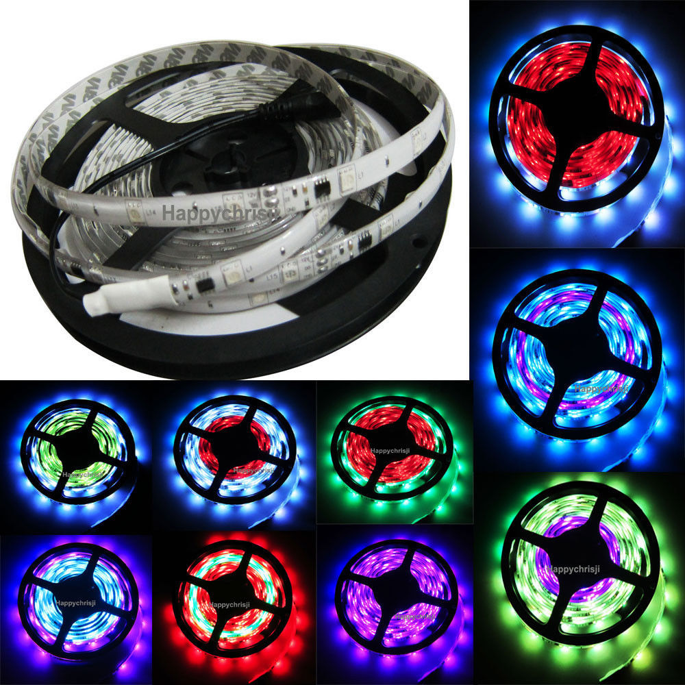 5M WS2811 5050 LED Strip Light 30LEDS/M White Waterproof 12V DC Female--no need controller - E light store