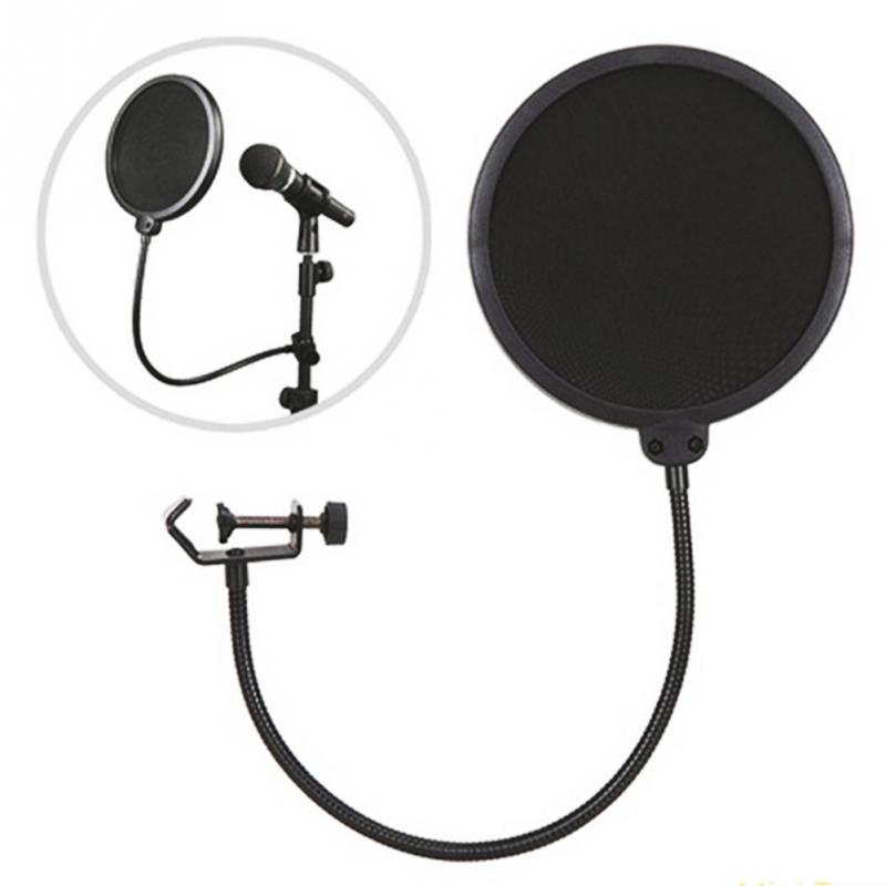 2017 Professionaal Studio Microphone Pop Filter Singing Filters Windscreen Shield Pod Cast Double Layer Mask Mic Metal(China (Mainland))