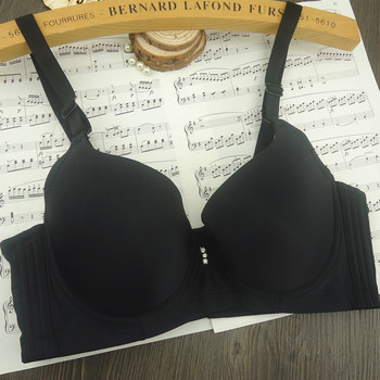 2016 Selling Hot Big Cup Bra Smooth Thin Adjustment Four Button Push Up Bra For Women Bralette