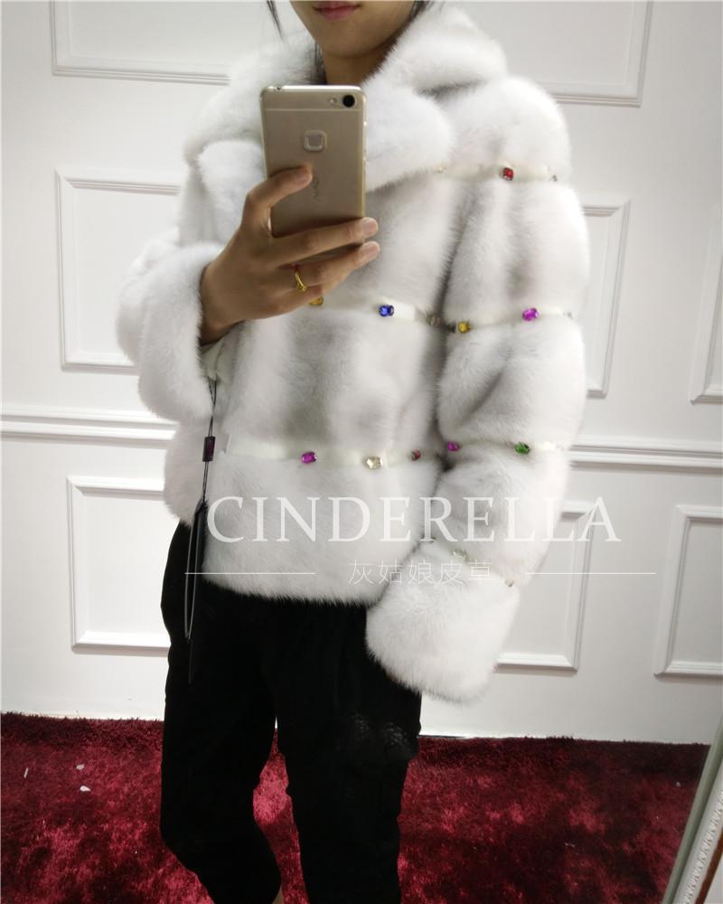 Real Mink Fur Diamond Outwear 2016 New Women's Genuine Mink Fur Coats For Winter Short Jacket Warm Mink(China (Mainland))