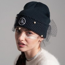 supermodel veil street snap Europe and the United States winter fall net yarn knitted caps,Hat restoring ancient ways wholesale(China (Mainland))