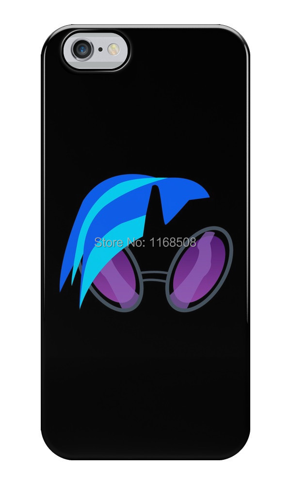 Free shipping DJ Pon-3 hot sale cool funny black Silicon soft TPU case cover for iphone 6 and 6 Plus(China (Mainland))