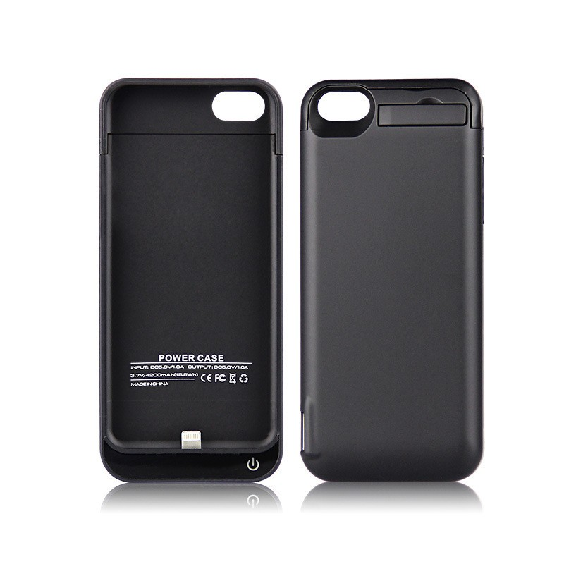 Xlot 4200mAh Rechargeable External Batter Backup Charger Power Case For Iphone 5 5S Battery Case Cover Pack Power Bank