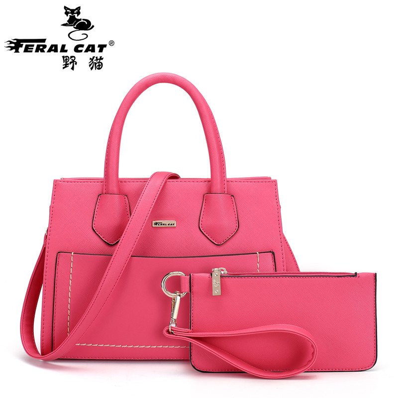 Фотография Lash Bags Fashion Brand LOGO Cross Pattern Woman Handbag High Quality Women Shoulder Bag Classic Microfiber Black Messenger Bags