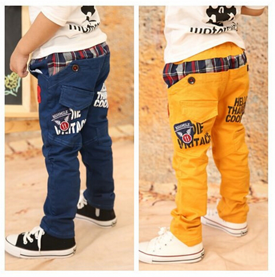 2016 New Children Spring and Autumn Pants Baby Boys Wearing Korean Styling Fashion Kid's Causual Trousers for 3-8 Years old(China (Mainland))