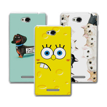 "Buy Sony S39 5.0"" Coque Hard Plastic Case Coque Sony Xperia C S39H C2305 C2305 2305 Bear Cartoon Painting Protector for $1.36 in AliExpress store"