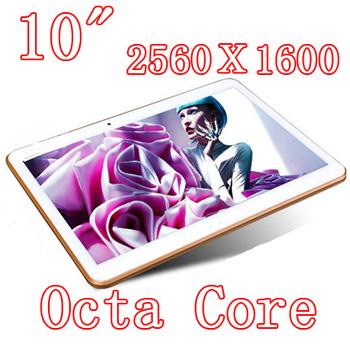 10 дюймов таблетки шт 8 ядро Octa ядра 2560 X 1600 DDR3Tablet PC 4 ГБ ram 32 ГБ 8.0MP камера 3 г сим-карты Wcdma + GSM Android4.4