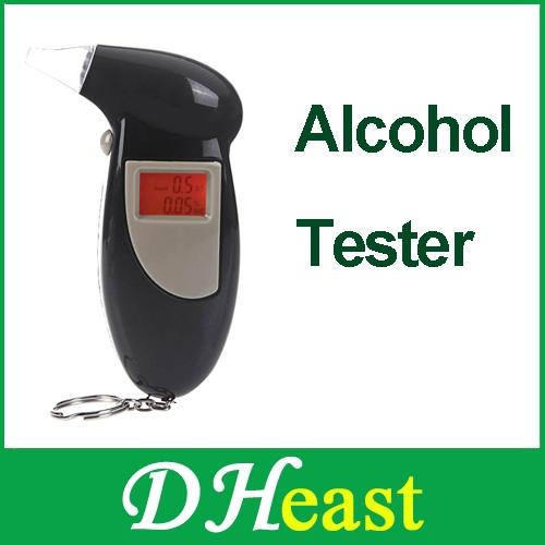 Backlit Display Digital LCD the Breathalyzer Audible Alert Breath Alcohol Tester box parking gadget analyzer car detector 2014(China (Mainland))