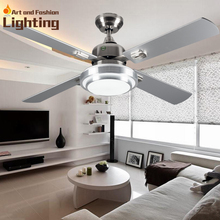 Super quiet Ceiling fan lights large 52 inches modern ceiling fan lamp living room bedroom dining room LED lights(China (Mainland))