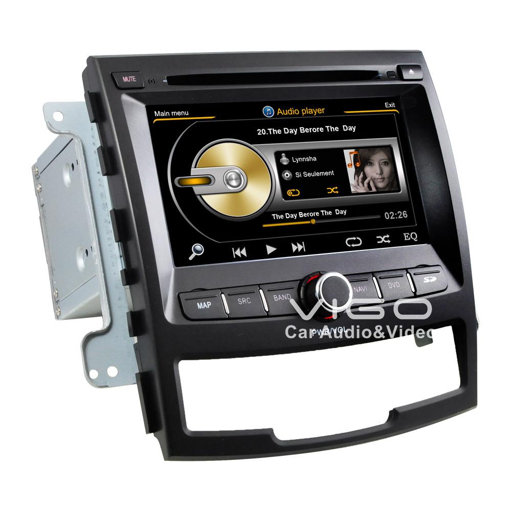 Car Stereo GPS Navigation for Ssangyong Korando Radio RDS ...