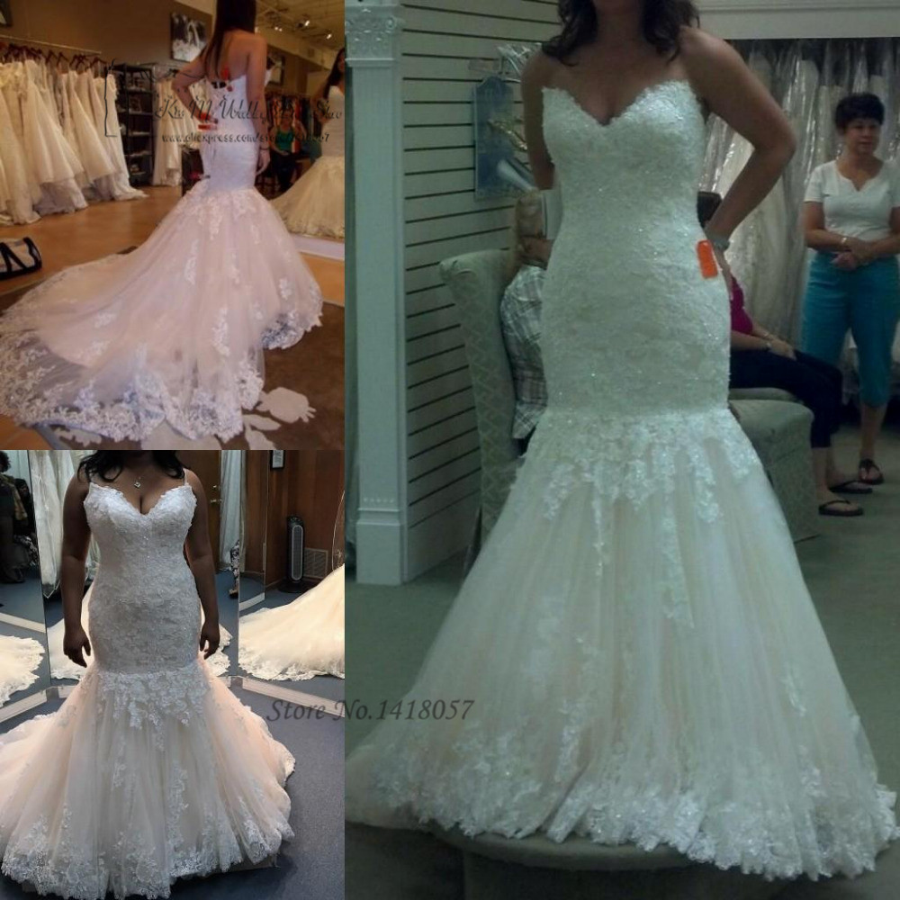 wedding dresses lace wedding gowns beads court train bride dress