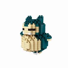 Pocket Monster Snorlax Diamond Building Blocks Cartoon Anime Model Children's Favorite Toys Gift Fun Mini Assembled Bricks
