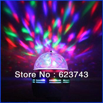 Free shipping! New E27 3W Colorful led Rotating Lamp / RGB LED Bulb for Bar club decoration lighting