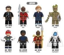 Marvel Super Heroes Avengers Capitão LegoINGly Infinito Guerra da Galáxia Homem De Ferro THOR Hulk Aranha Black Panther Thanos Tijolos Brinquedos(China)