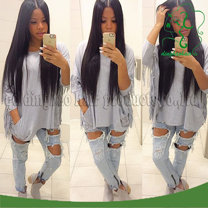 6a top virgin peruvian glueless full lace wigs silk straight glueless lace front human hair wigs with baby hair for black women