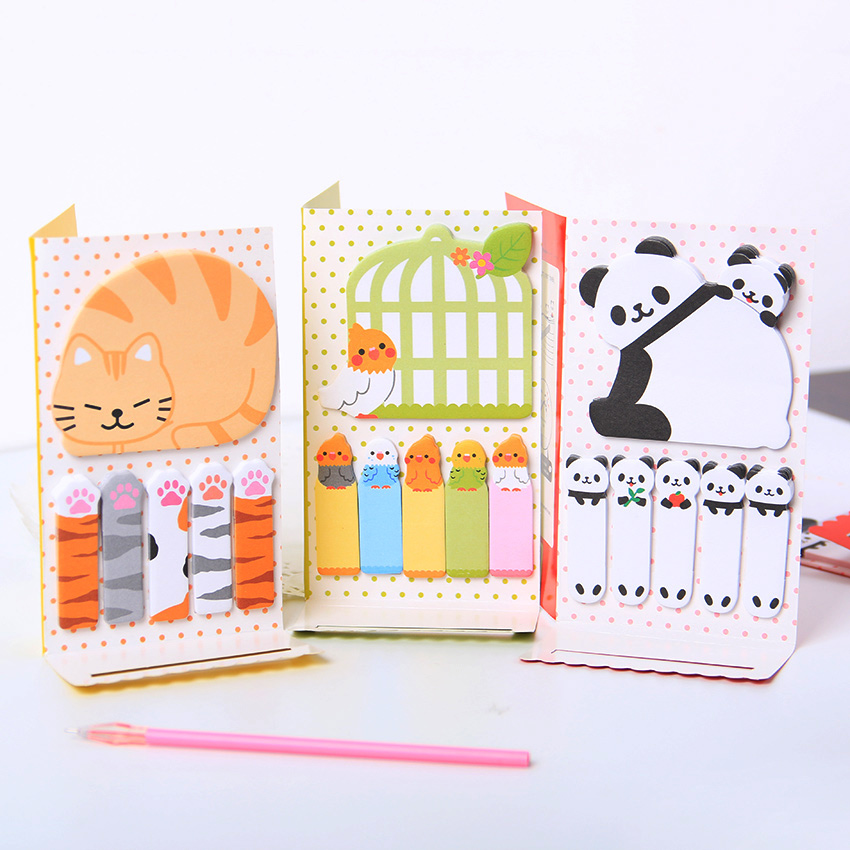 2PCS Cute Cat Panda N Times Sticky Notes Memo Pad Paper Sticker Post It Notepad Gift Office Stationery Escolar(China (Mainland))