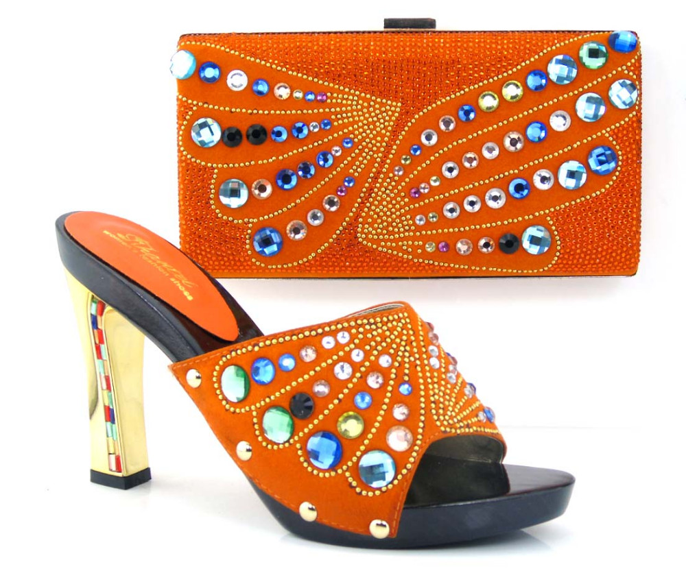 TH26-38 lastest design italian matching shoes and bags/italian shoes and bag set with high quality material!