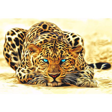 Buy Frameless Leopard Animals DIY Painting Numbers Acrylic Picture Hand Painted Oil Painting Canvas Home Decor Artwork for $5.80 in AliExpress store