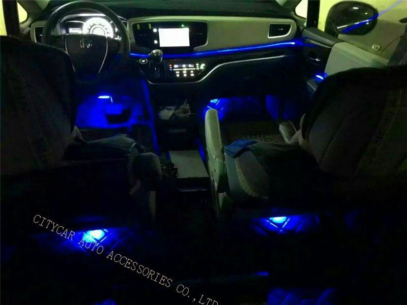 FREE SHIP Car LED COB Tub Strip Light APP Control 7 Colors/red/white/pink/bule Car Styling Atmosphere Lamps Interior Lights
