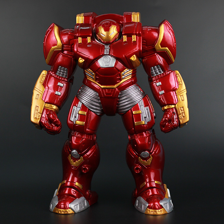 "New Hot The Avengers 2 Age of Ultron Iron Man Hulkbuster PVC Action Figure with LED Light Model 12"" 30cm KY-030 For Toys(China (Mainland))"