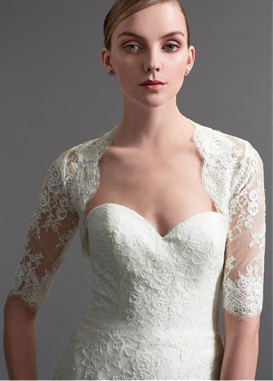 Hot 2017 New Bolero Wedding Bridal Jacket Accessories Sheer Lace Half Sleeve Wedding Bolero Bridal Wraps ASWP15