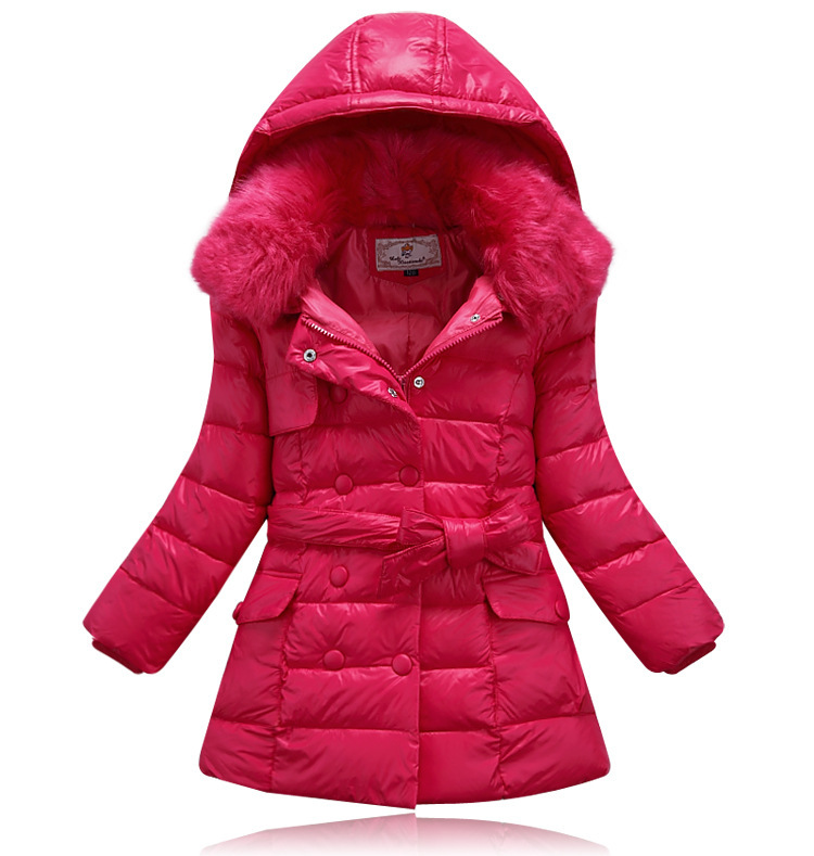 winter baby snowsuit baby girl fur collar winter coat kids winter coat children gilrs winter warm down coat jacket for girls(China (Mainland))