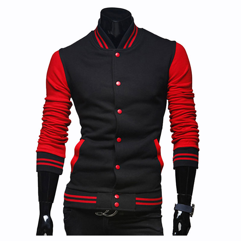 New Baseball Jacket Men 2015 Fashion Design Hit Color Mens ...