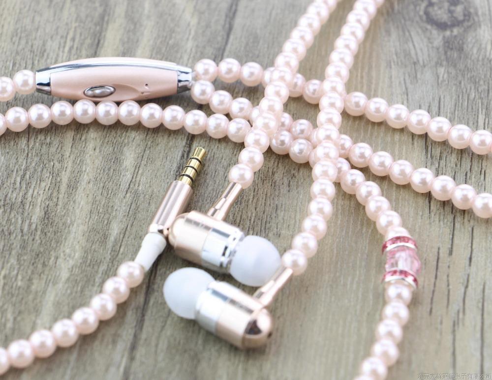 Pearl necklace earphones - auxiliary Earphones Nevada