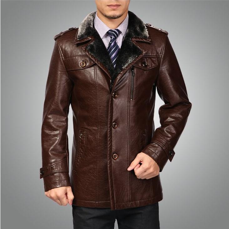 HOT!! Men's new winter sheep fur coat , lapel casual men's Genuine Leather jacket ,M-3XL - T Y HUI's store