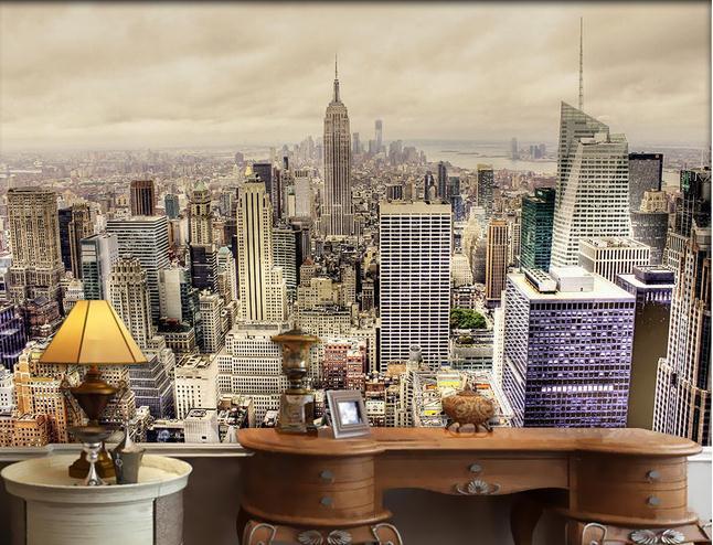 Wallpaper New York City high-rise landscape mural wallpaper wall paper papel de parede stickers wallpaper20151246 - China-3d CO.,LTD. store