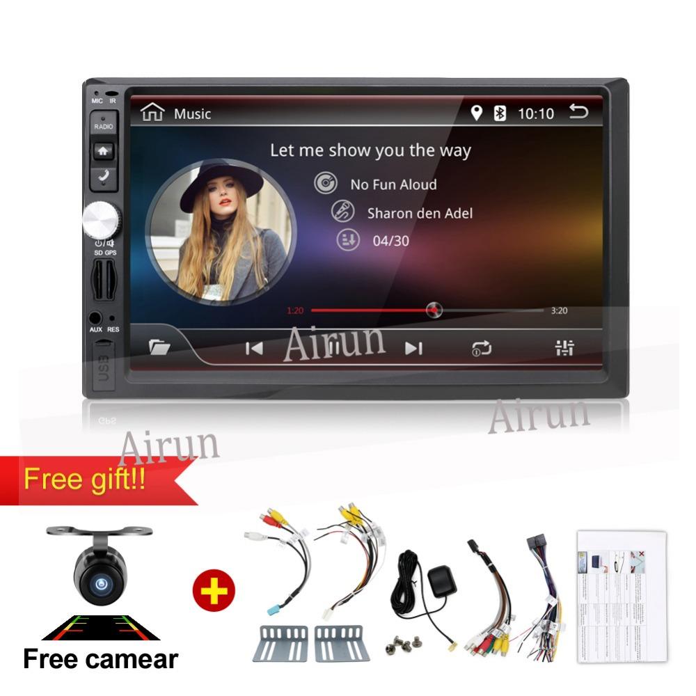 Car Audio MP5 Player 7018B 7 Inch Bluetooth V2.0 Support TF MMC USB FM Radio with Camera(China (Mainland))